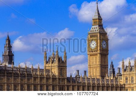 Big Ben and Parliment House in Westminster, London