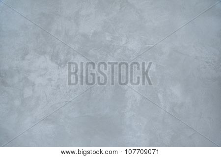 Grungy Gray-blue Background Of Decorative Plaster