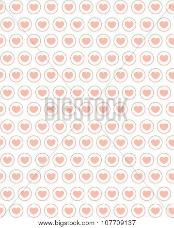 Cute Vector Heart Pattern