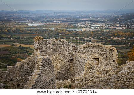 Ruins Of The Crussol Castle, In France