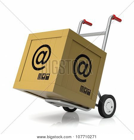 Hand Truck With E-mail Box