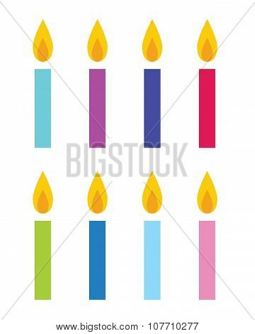 Colorful Vector Candles
