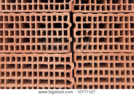 Orange Brick Building Construction Wall Material