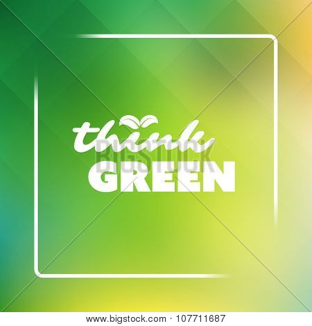 Think Green - Eco Card Design Template