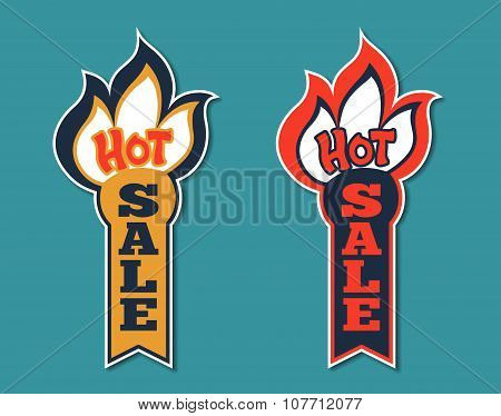 Hot Sale Stickers. Vector