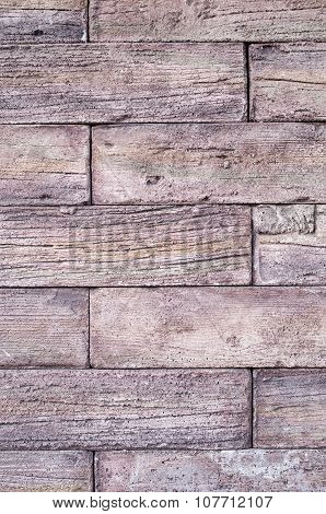Decorative Relief Cladding Slabs Imitating Old Wood