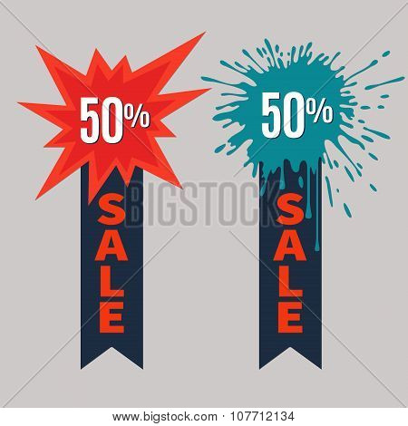 Sale Stickers with place for text.