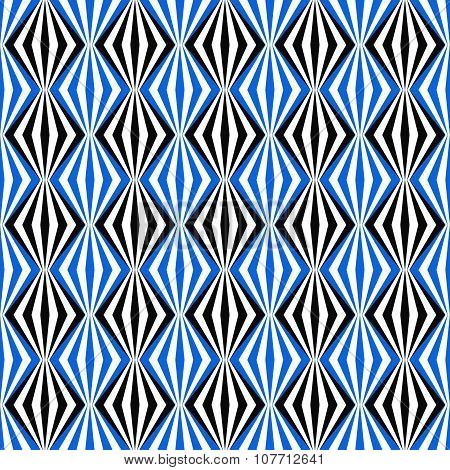 Black and blue seamless pattern