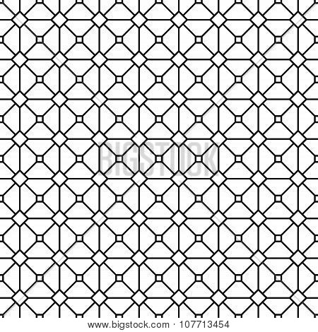 Seamless abstract monochrome grid pattern