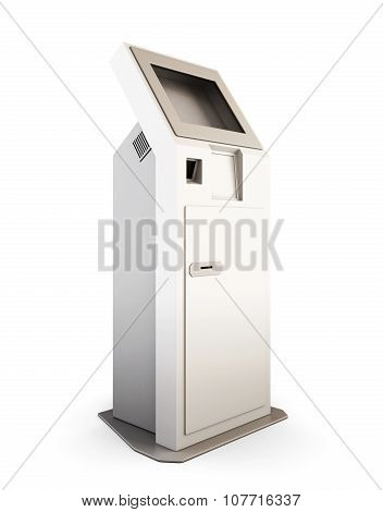 Interactive Terminal Isolated On White Background. 3D.