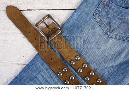 Planks, Blue Jeans And Belt 2
