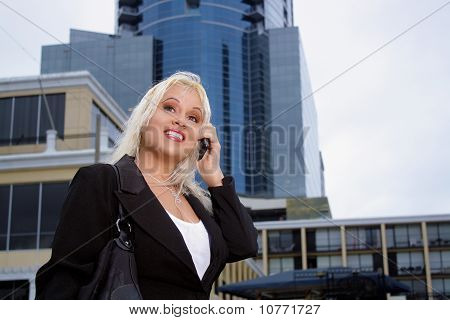 Beautiful Businesswoman Outdoors (1)
