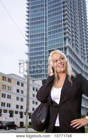 Beautiful Businesswoman Outdoors (2)