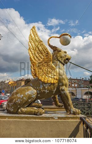 Griffins With Golden Wings