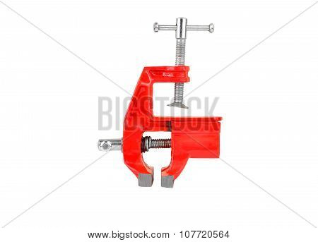 Mechanical hand vise clamp