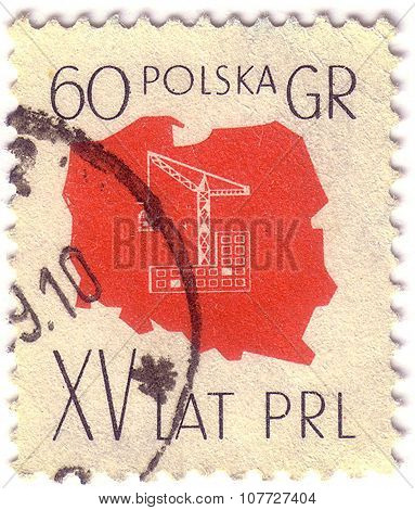 Greece - Circa 1951: A Stamp Printed In Greece From The