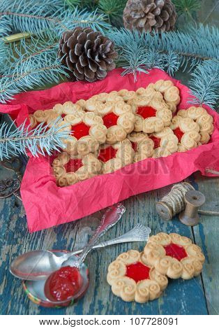Christmas Cookies With Jam