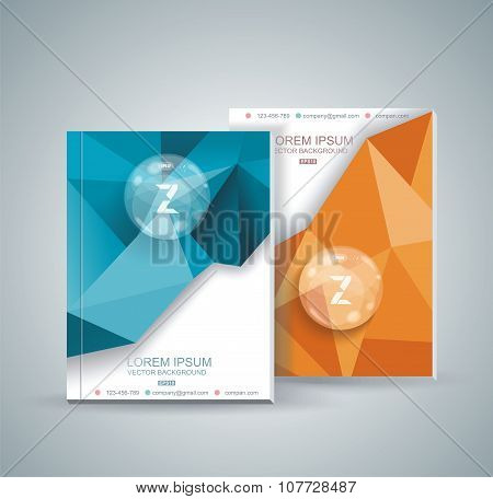 Magazine Cover With Pattern Of Geometric Shapes
