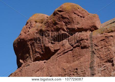 Sandstone Red Rocks in Colorado