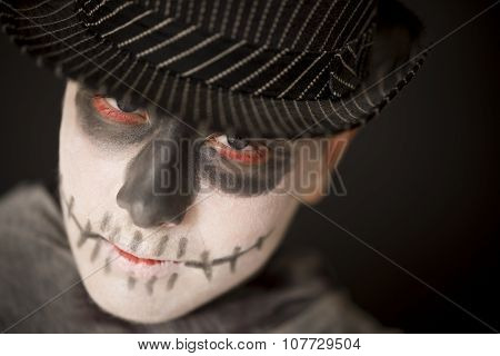 Spooky Young Man In Halloween Costume