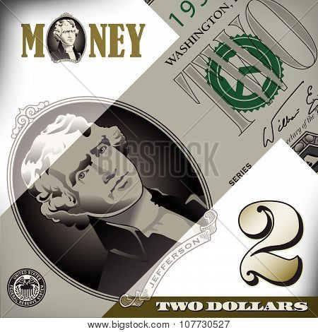 2 dollar bill elements