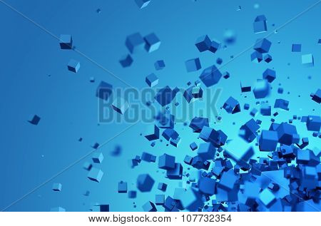 Abstract 3D Rendering of Chaotic Cubes.