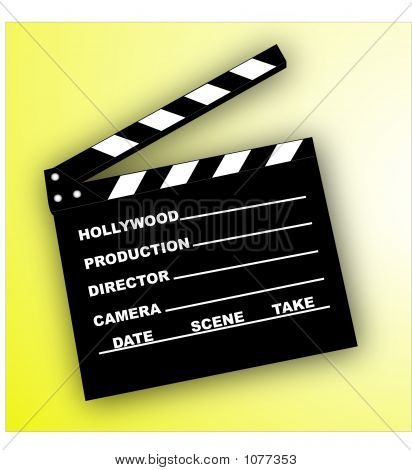 Clapboard- Vector Illustration
