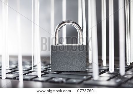 lock on a computer keyboard