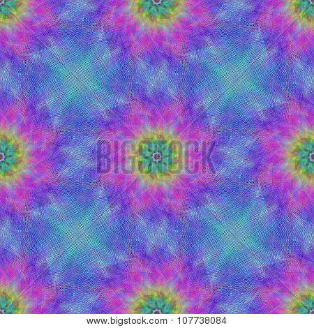 Seamless vibrant fractal pattern background
