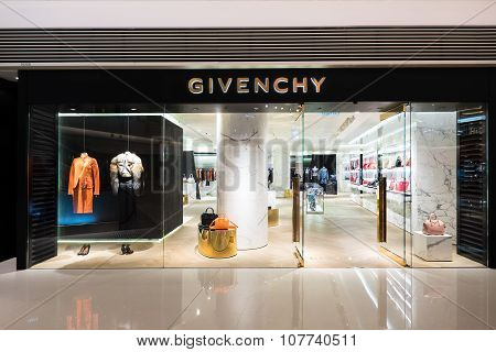 Givenchy Fashion Boutique Display Window. Hong Kong