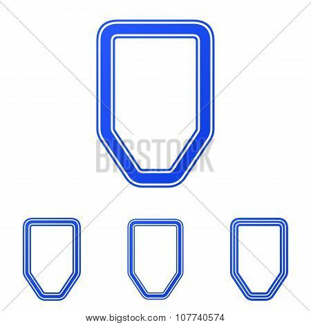 Blue line defense logo design set