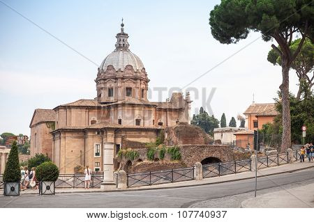 Church Of Santi Luca E Martina In Rome