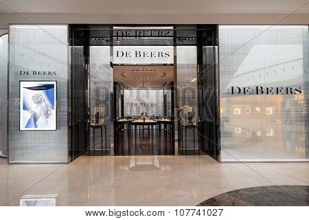 De Beers Fashion Boutique Display Window. Hong Kong