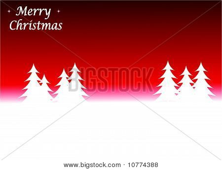 Abstract winter vector scene