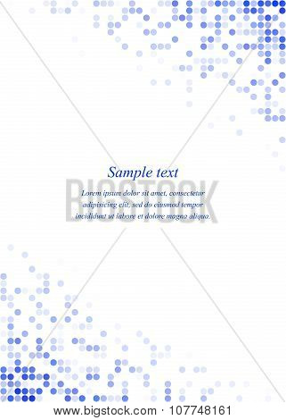Blue page corner design template