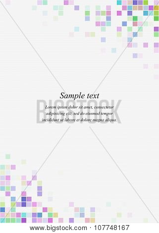 Colorful square page corner design template