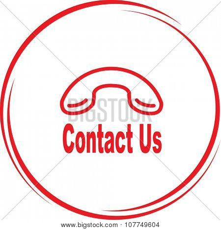 contact us. Internet button. Raster icon.