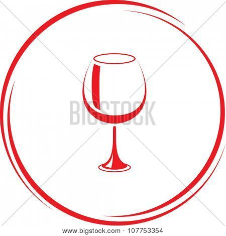 goblet. Internet button. Vector icon.
