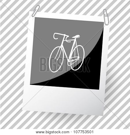 bicycle. Photoframe. Vector icon.