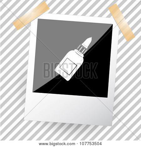 glue bottle. Photoframe. Vector icon.