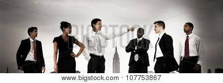 Business People Confrontation Argument Concept
