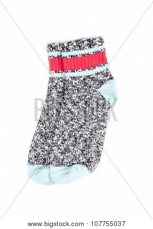 Colorful Cotton Ankle Socks Isolated on White