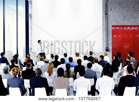 Business People Conference Meeting Speaker Concept