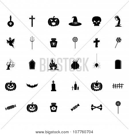 Halloween Silhouette icons