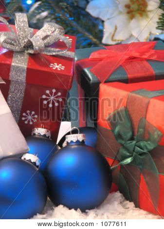 Gifts And Christmas Balls