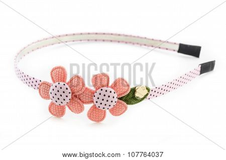 Flower Headband On White.