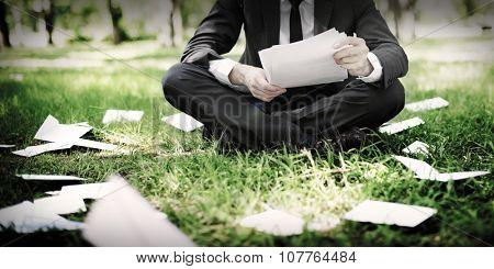 Businessman Stressful Sadness Failure Concept