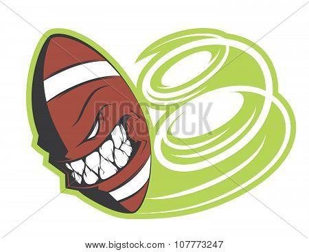 Angry Football Ball Sticker Vector Concept