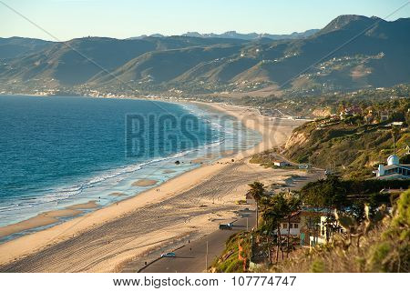 Beautiful view on Point Dume Beach Malibu