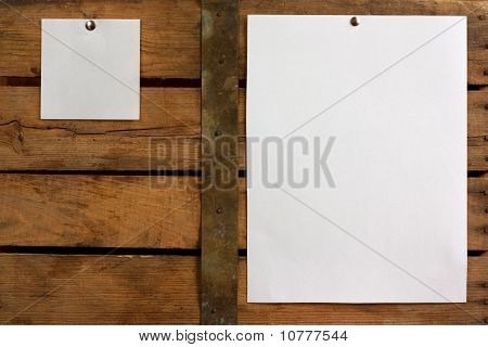 Two Different Size Blank Paper